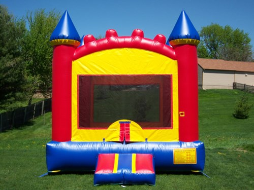 bounce party supplies red and blue castle bouncepartysupplies.com