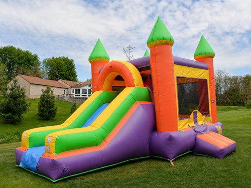 bounce party supplies bounce house rental Combo with Slide bouncepartysupplies.com