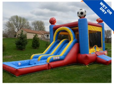 Bounce Party Supplies | Sports Combo with Double Slide | bouncepartysupplies.com