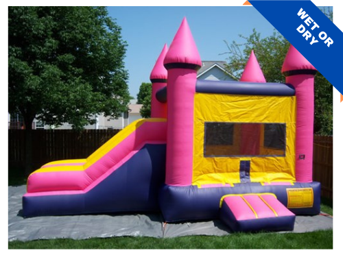 Bounce Party Supplies | Princess Combo with Slide | bouncepartysupplies.com