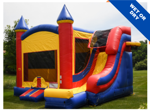 Bounce Party Supplies | Combo with Super Slide | bouncepartysupplies.com